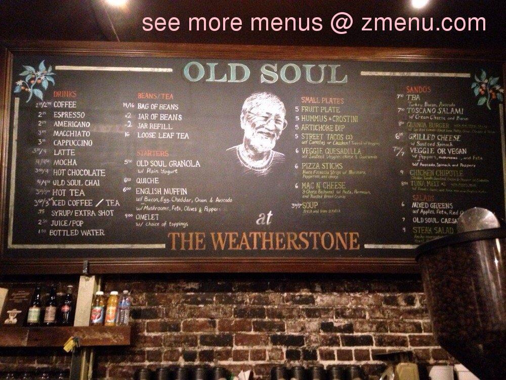 Soul Stone Restaurant Menu