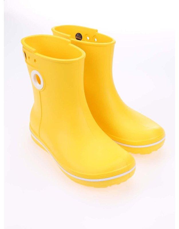 """f7cdc77411c Žluté dámské kotníkové holínky Crocs Jaunt. Crocs. Katalogové číslo  91086.  Cena 1199 Kč. Koupit. """"Prší"""