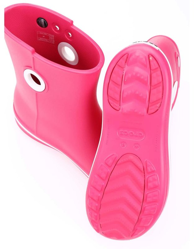 eec87827ca7 Růžové dámské kotníkové holínky Crocs Jaunt 91080