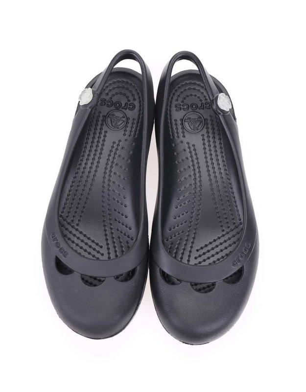 7acd44febd2 Černé otevřené balerínky Crocs Jayna
