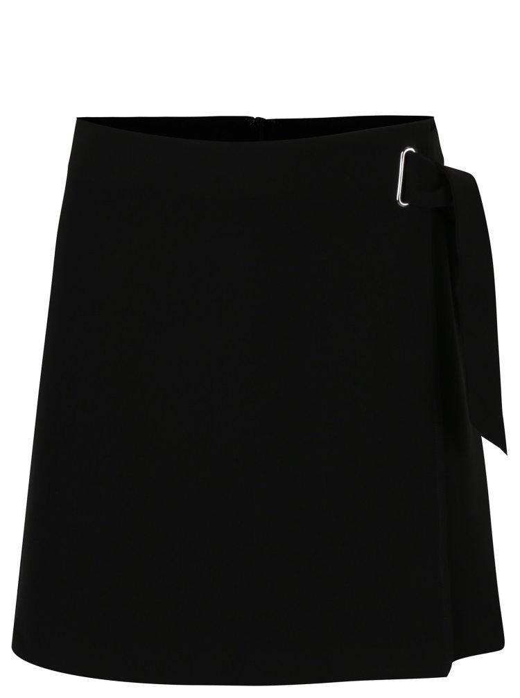 černá sukně s vázankou ONLY Darla