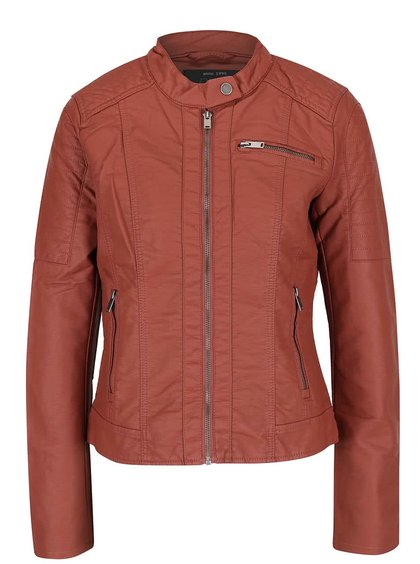 Jachetă roșie ONLY New Start din piele sintetică