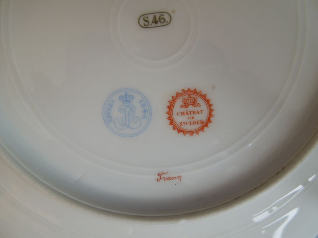 Antique French St Cloud Sevres Porcelain Plate Courting