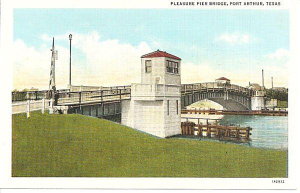 Pleasure Pier Bridge Port Arthur Texas From Antique Ables On Ruby Lane
