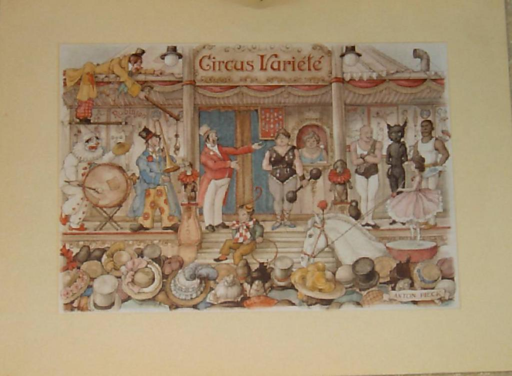 Circus By Anton Pieck From Carolines Collectibles On Ruby Lane