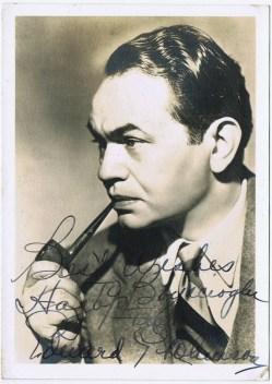 Edward G. Robinson Autograph