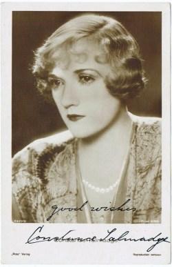 Constance Talmadge Autograph