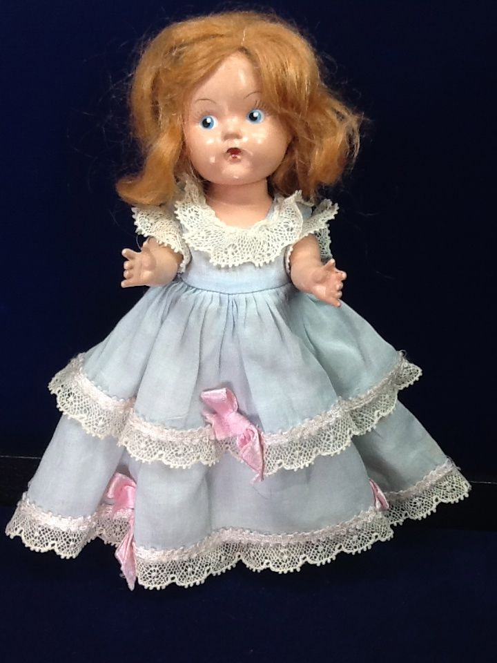 Vintage Painted Eye Hard Plastic 8 Vogue Ginny Doll With