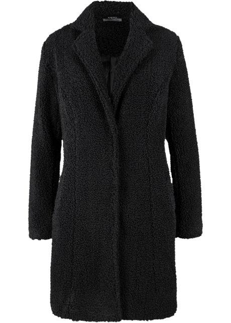 manteau court en fourrure peluche