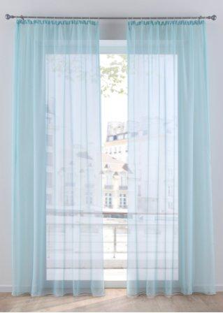 rideaux vitrage poly lin motif coeur