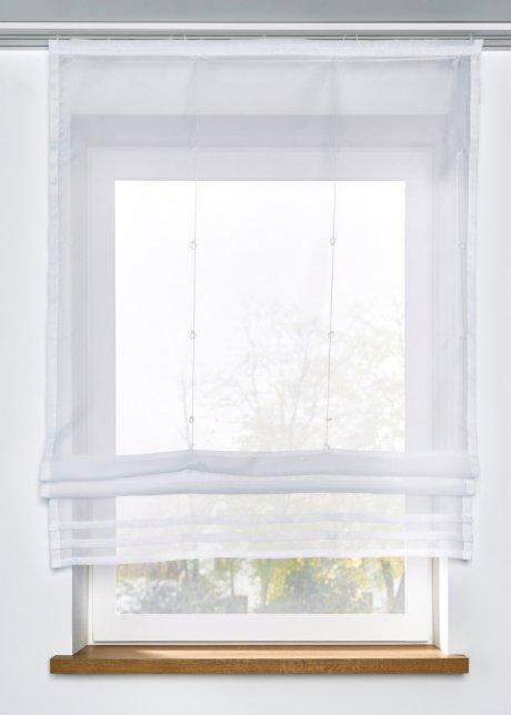 Si prestano meglio ad ambienti moderni ma con tessuti adatti possono essere perfetti anche in luoghi classici. Tenda A Pacchetto Pratica Con Pieghe Decorative Bianco Guida Con Velcro