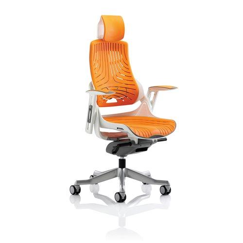 Ergonomic Office Chair Ashford With Headrest Orange Aj Products Online