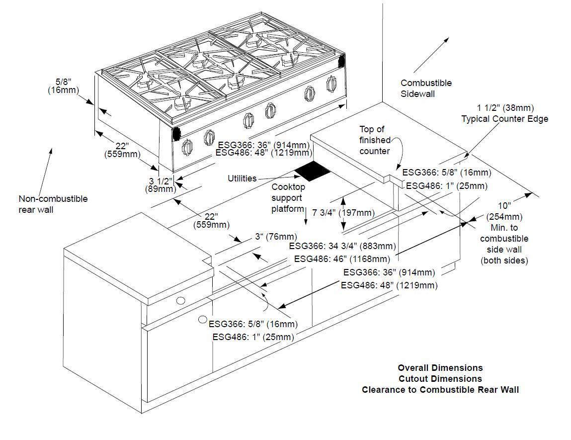 Dacor Esg486scplph Renaissance Series Gas Sealed Burner