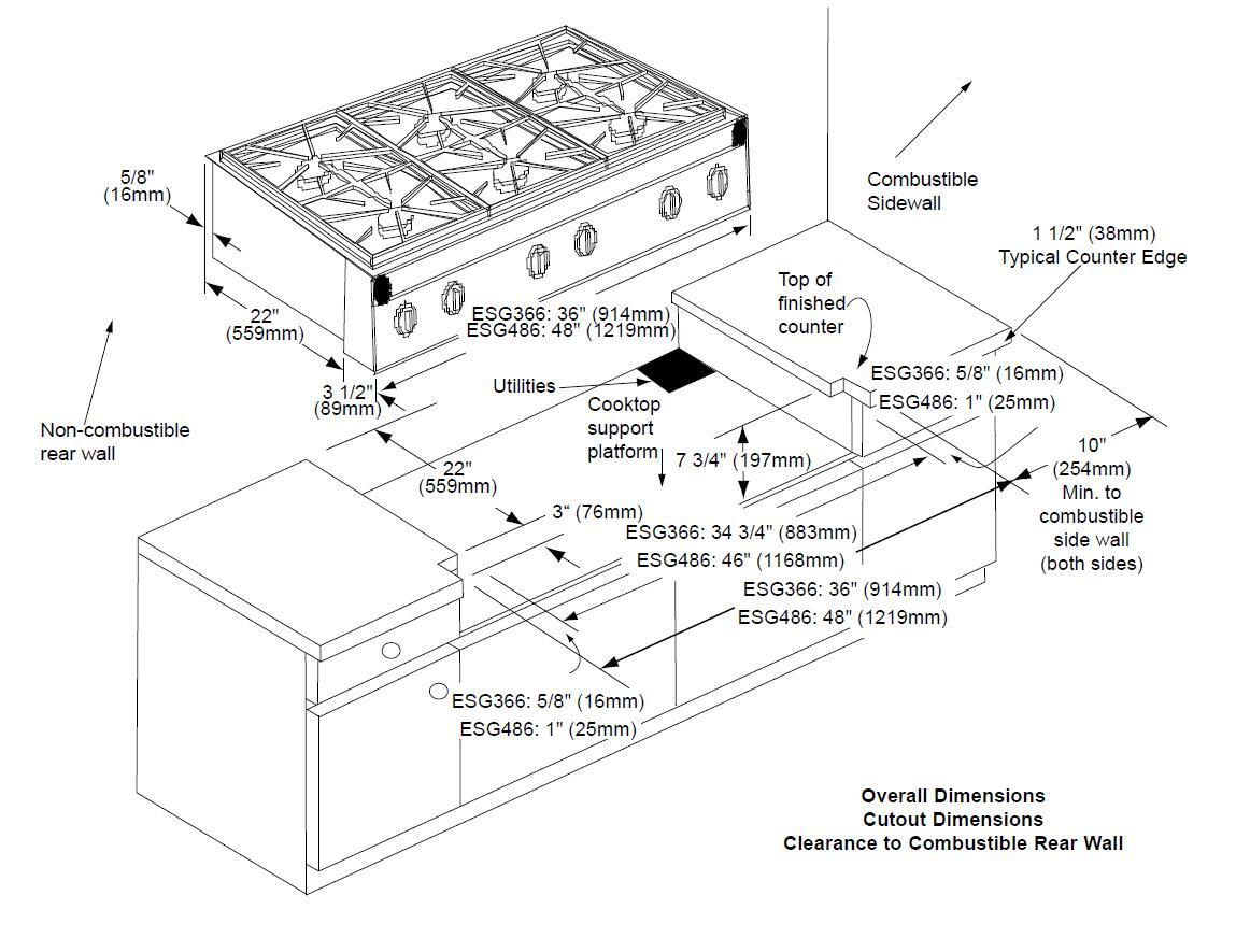 Dacor Esg366sch Classic Epicure Series Gas Sealed Burner