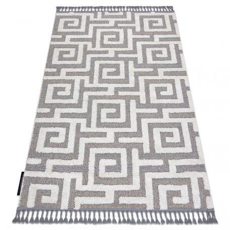 https 24tapis fr tapis modernes 15101 tapis maroc p655 labyrinthe grec gris blanc franges berbere marocain shaggy html