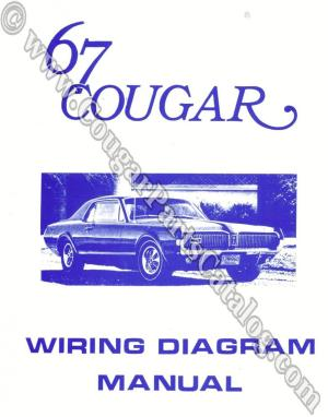 Manual  Wiring Diagram  Repro ~ 1967 Mercury Cougar