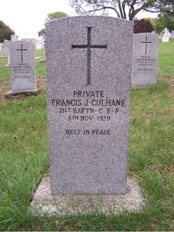 Frank Culhane's grave, courtesy of FindaGrave.com