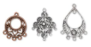 Chandelier Earring Components Are The Hoops Loops Filigree And Wire Supporting Dangles Chains Sparkling Crystals Drops