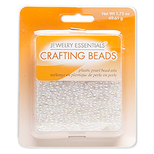 Bead Mix, Acrylic, Clear AB, 3-5mm Round. Sold Per 1.75-ounce Pkg, Approximately 2,900 Beads