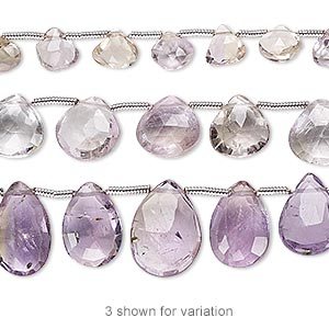 Bead Mix, Amethyst / Ametrine / Citrine (natural / Heated), 6x6mm-14x10mm Hand-cut Top-drilled Faceted Teardrop, Mohs Hardness 7. Sold Per Pkg (3) 8-inch Strands