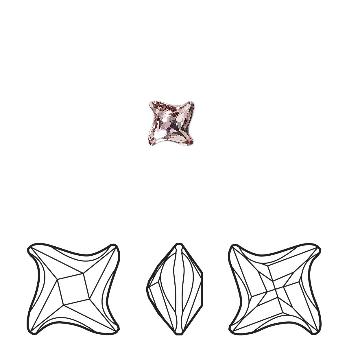 Component Swarovski Crystal Crystal Antique Pink Foil