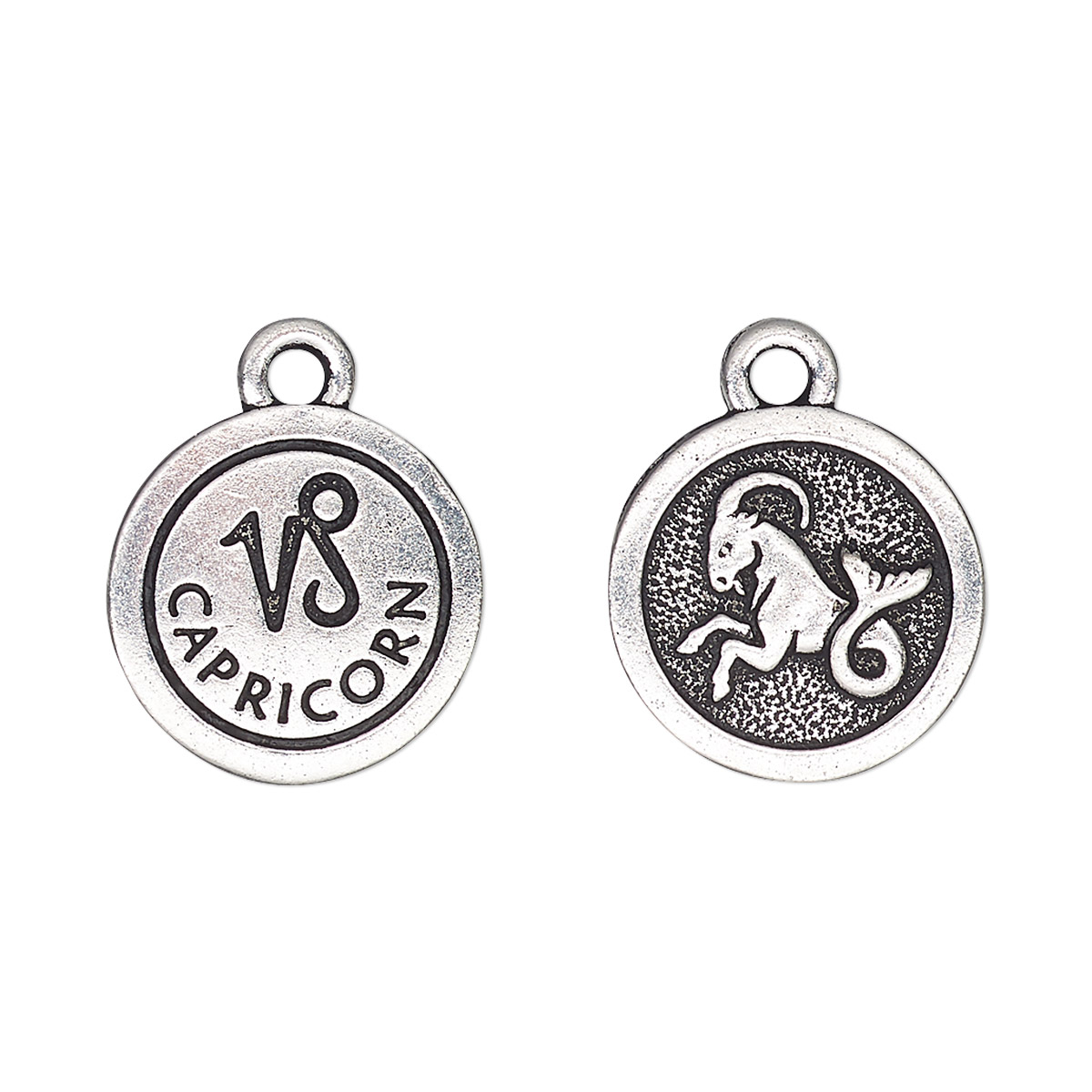 Charm Tierracast Antique Silver Plated Pewter Tin