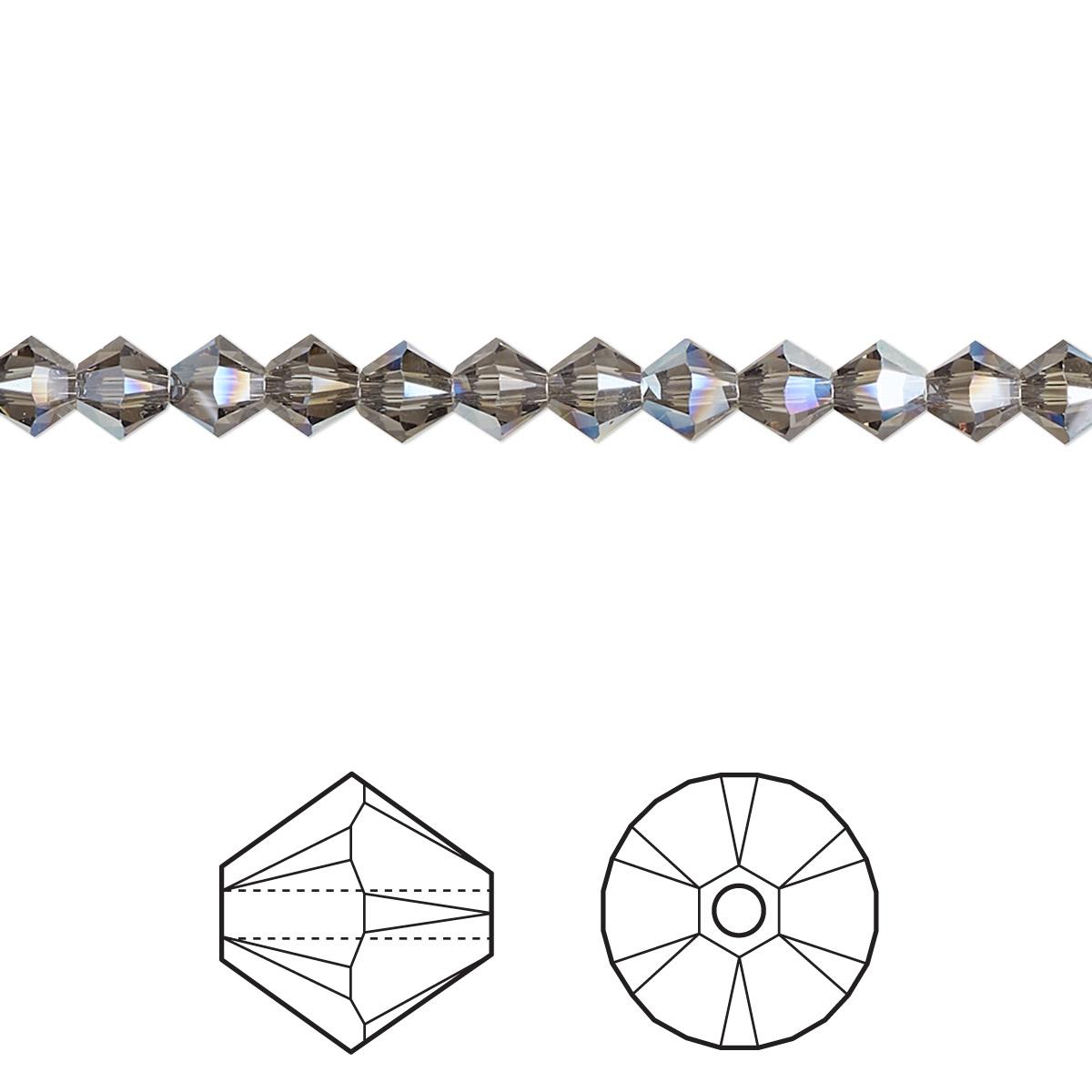 Bead Swarovski Crystals Black Diamond Moonlight 4mm
