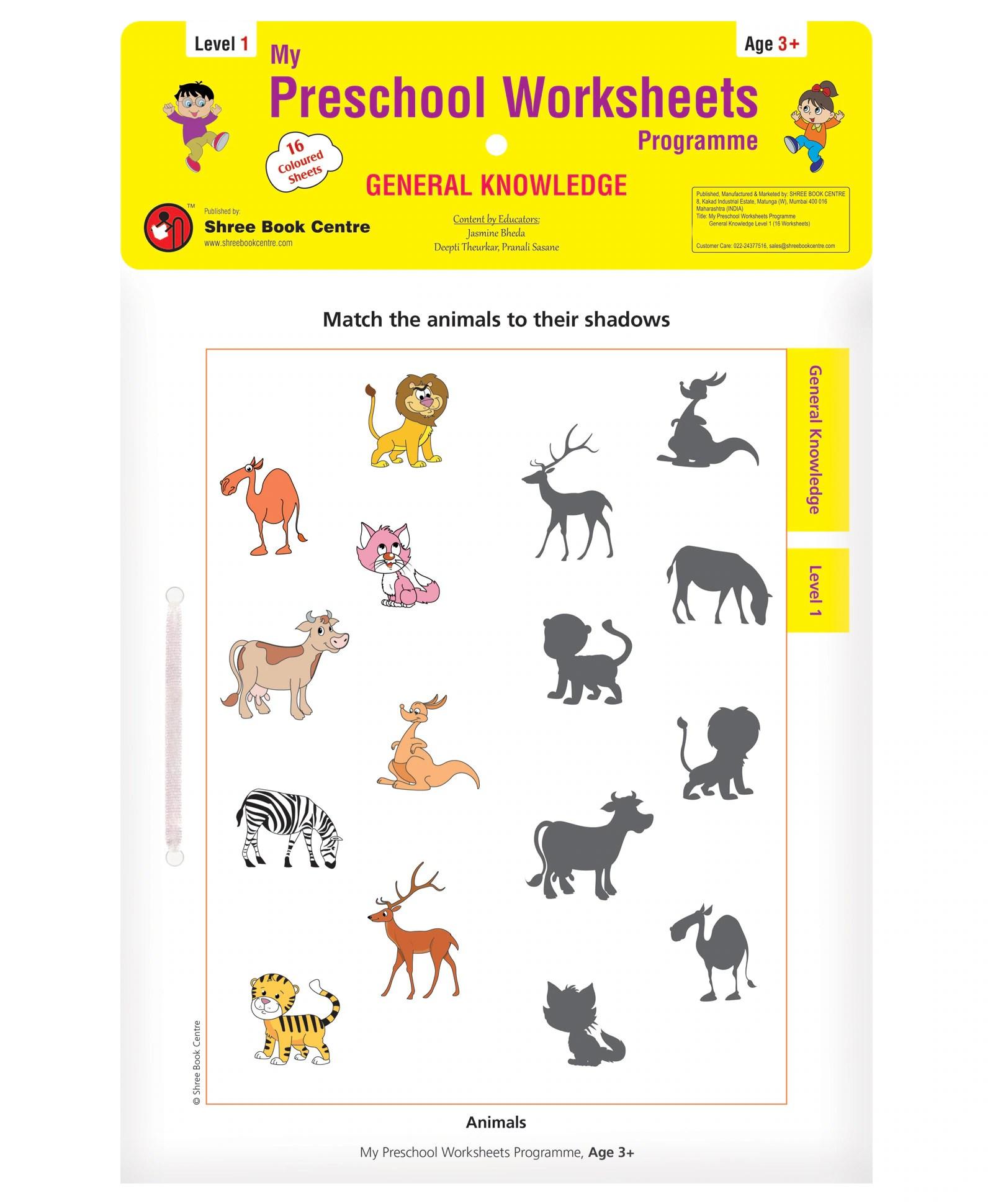 My 1st Preschool Worksheets General Knowledge Level 1 Age
