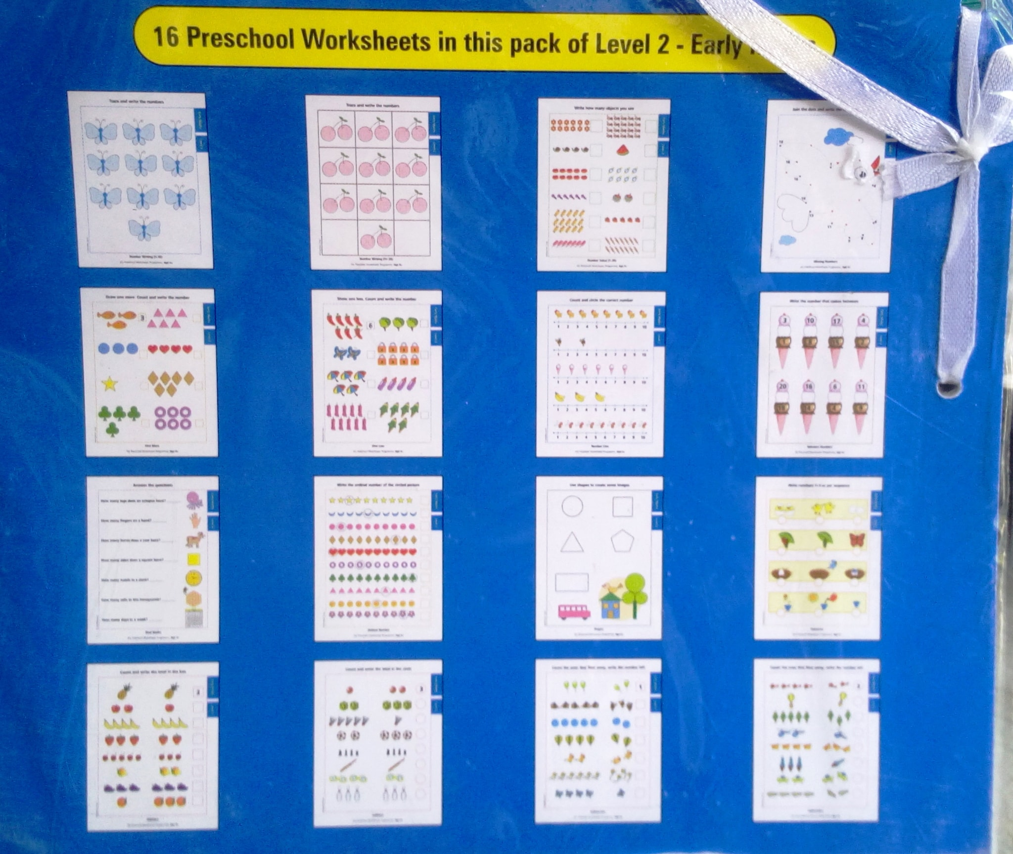 My Preschool Worksheets Early Maths Level 2 Age 4