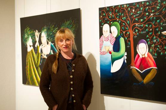 L'univers de la peintre Marie-Paule Benoit-Basset au centre culturel Valery-Larbaud