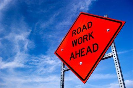 Image result for traffic jam orange signs