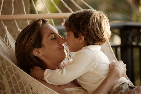 Mother And Son In Hammock Stock Photo Rights Managed Code 700