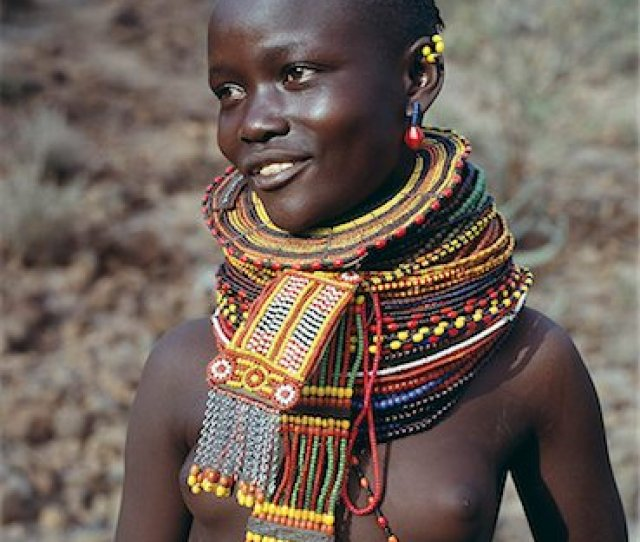 A Young Turkana Girl Adorned With Necklaces Of A Style The Southern Turkana Prefer To Wear