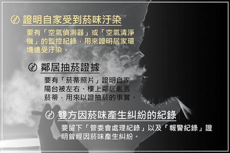 律師教導如何成功拒絕鄰居二手菸,三個具體的證據方向