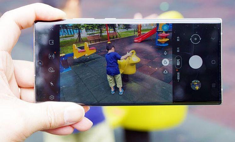Galaxy Note20 Ultra 5G 的相機介面