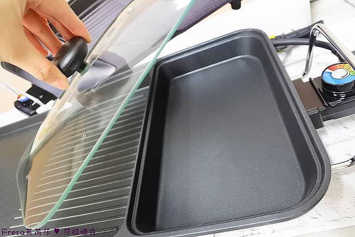 平板區附上玻璃透明蓋,可以加速食材的熟透度