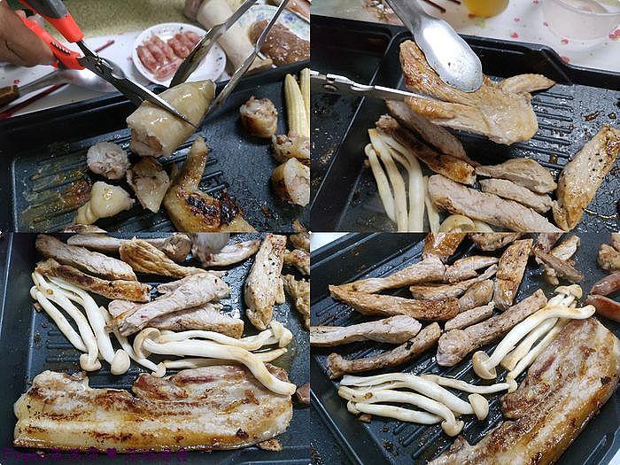 帶有油脂的肉品很適合炒菇類