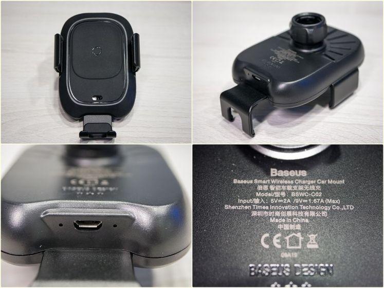 Baseus倍思 智能感應出風口無線充電支架,自動感應無線充電車用手機架推薦