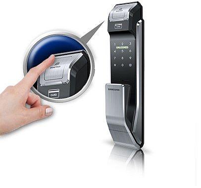 三星SHS-P718电子锁:健忘症救星,让钥匙从此掰掰!