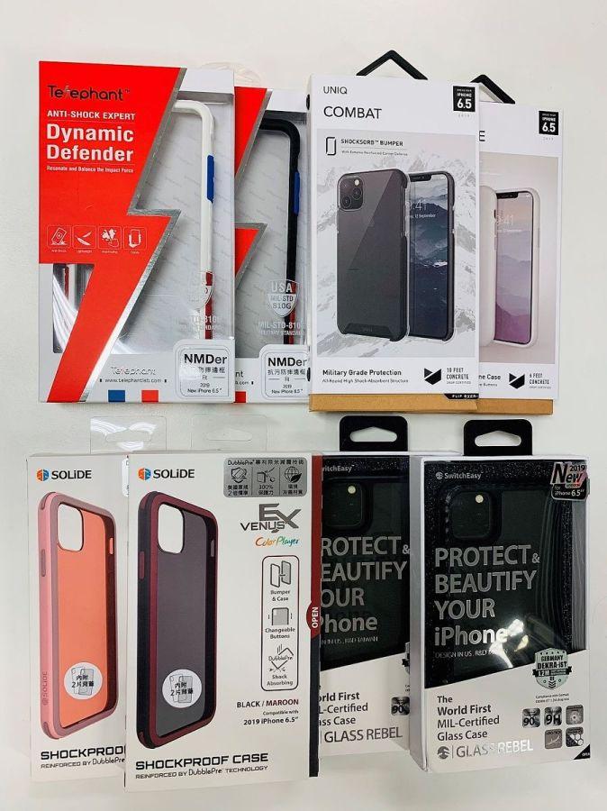 四款手機殼品牌:Telephant太樂芬、UNIQ、SOLiDE 以及 SwitchEasy