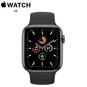 Apple Watch SE GPS版 44mm 太空灰鋁金屬錶殼配黑色運動錶帶