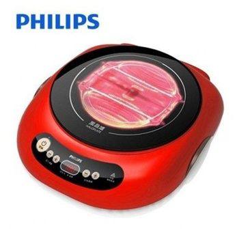 飛利浦PHILIPS 不挑鍋黑晶爐 活力紅 HD4989