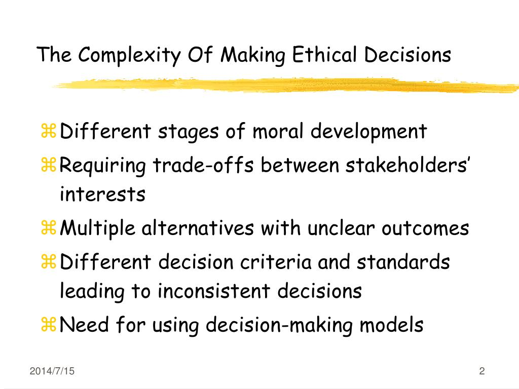 Ethical Dilemma Decision Making Worksheet