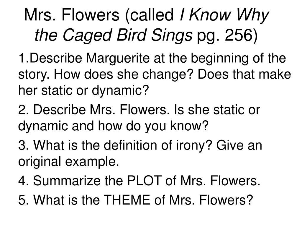 I Know Why The Caged Bird Sings Short Story Summary I