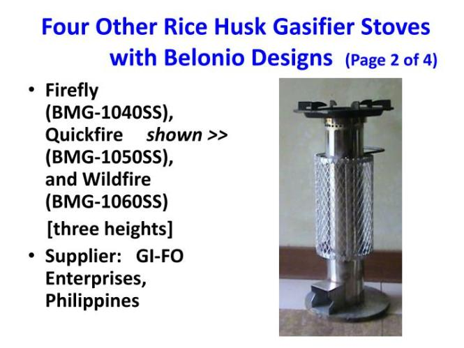 A Continuous Flow Rice Husk Gasifier For Thermal Applications By Alexis T Belonio Daniel H And Lucio Larano Abst
