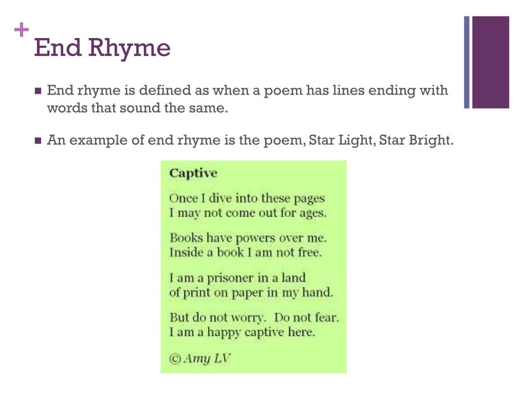 Creative Usa Definition For End Rhyme