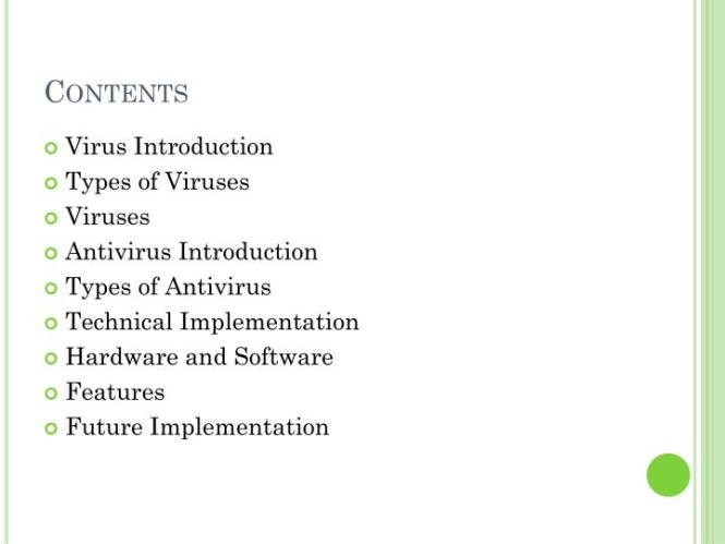 Anti Virus Powerpoint Template 04284