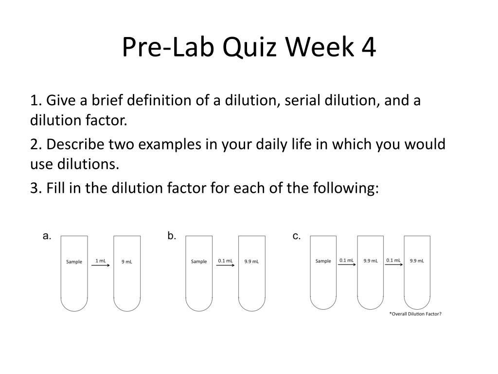 Dilution Factor Examples