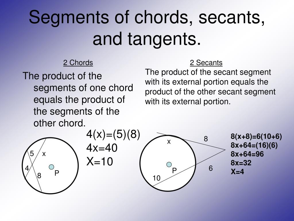 Geometry Angles Formed By Chords Secants And Tangents