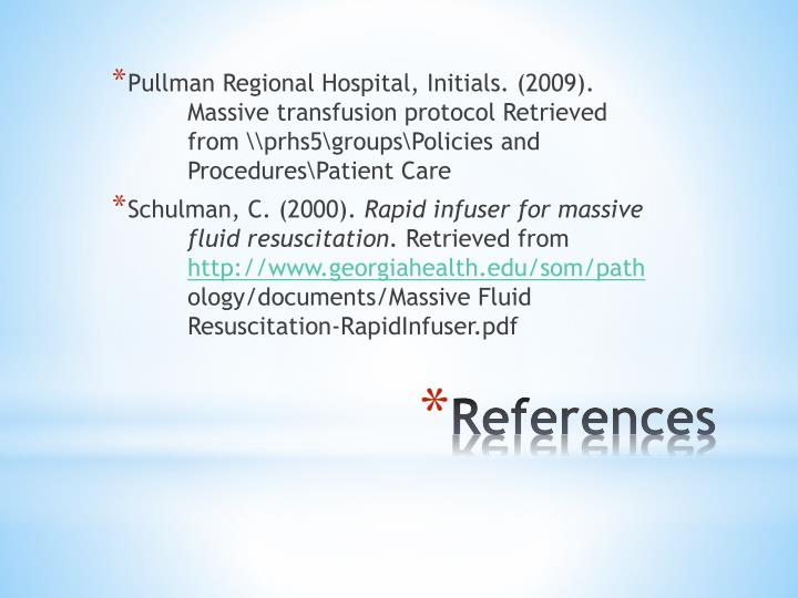 Ppt Level One Rapid Infuser Massive Transfusion